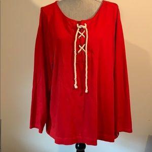 Talbots red long sleeve shirt 2X